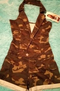 BNWT Camouflage Halter Romper Size 7/8 by VIP